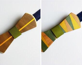 The LimeKiri reversible wooden bowtie