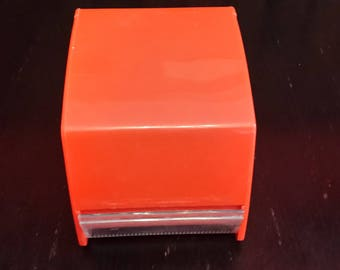 Orange sheer VINTAGE toilet paper dispenser