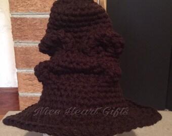 Crochet Hogwarts Sorting Hat Photo Prop