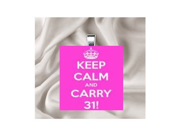 Pendant Necklace Keep Calm and Carry 31