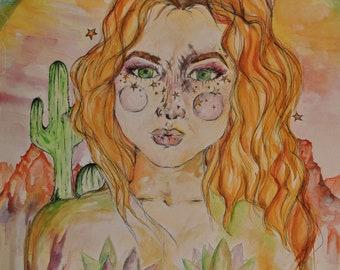 Watercolor Goddess- Sonoran Sweetheart