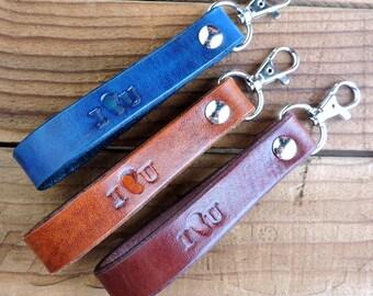 I Kidney U - Leather Keychain