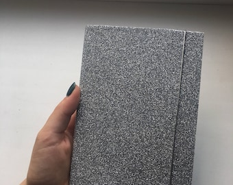 Silver planner. Little and comfort. planner for 3 month, 12 to do lists and white-blue lists.