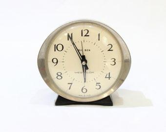Vintage Big Ben Alarm Clock by Westclox, Bedside Clock, Retro Home Decor