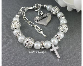au bar baptism bracelet cross rose baby il listing gold little