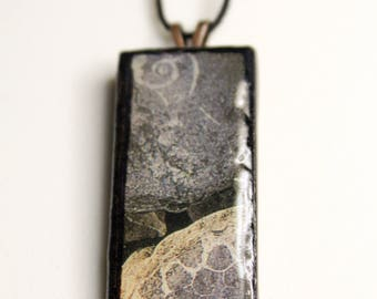 Beach Rocks #3 Wooden Pendant