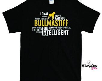 Bullmastiff Dog Characteristics T-shirt - Gift For Bullmastiff Owners - Bullmastiff Lover Shirt