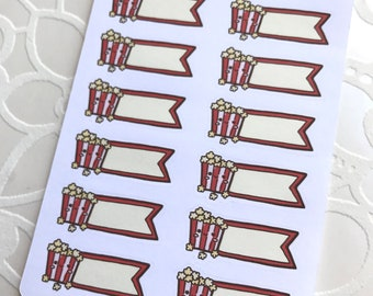 Movie Night MINI Deco Planner Stickers
