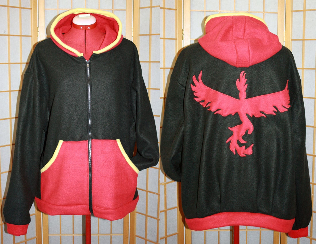 Pokemon GO - Team Mystic Hoodie jacket cosplay costume coat handmade 1m8LCp3