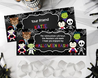 Halloween Candy toppers, Halloween bag toppers, Favor bags Halloween, Kids trick or treat bags, Halloween treat bags