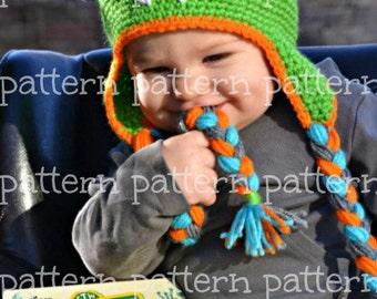 PATTERN Bug-Eyed Monster Crochet Hat PATTERN