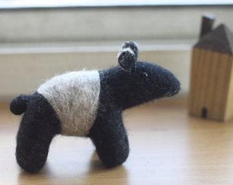 Wool Felted Malayan tapir