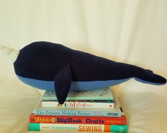 Happy blue narwhal plush!