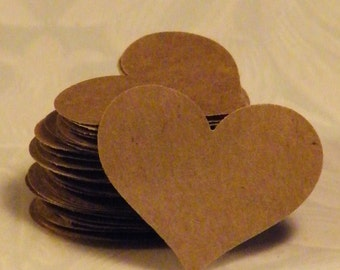 50 Heart Confetti, Kraft Paper Hearts, Paper Heart, Heart Die Cut, Heart Confetti, Heart Punches, Paper Heart Punch, Wedding Heart Confetti,