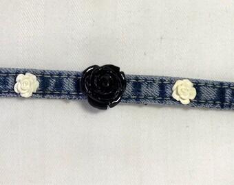 Repurposed Denim Bracelet