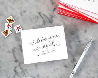 Post Office Letterpress Postcard with Edge Painting — Just Because, Any Occasion, Greeting Postcard