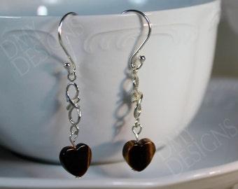Tigereye Hearts Earrings