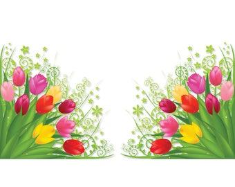Tulip Corners Window Clings (set of 2)