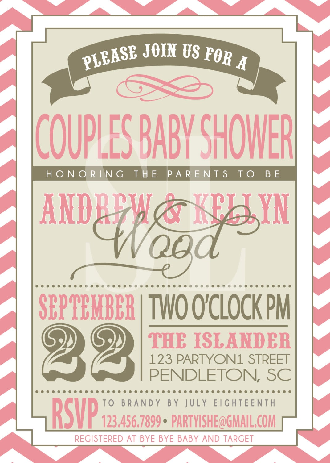 On sale couples baby shower invitation zoom stopboris Image collections