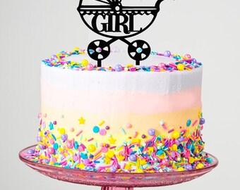 Handmade Girl New Born Cake Topper