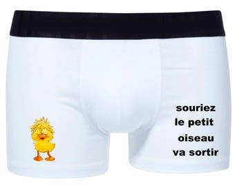 Mens stretch cotton boxer shorts bird ref 23