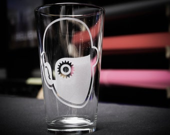 A Clockwork Orange Etched Pint Glass
