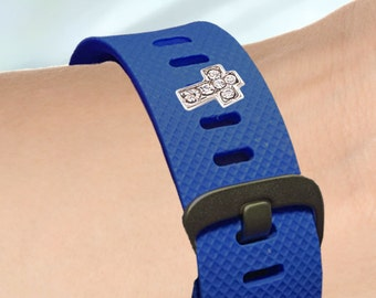 Fitness-Watch Charm, Crystal Cross Charm; Personalize your watchband with style and flair. Fitbit Jewelry, Fitbit Charm