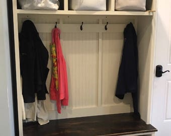 Entryway bench with storage/entryway furntiure/organization/shoe storage/coat rack/hall tree/mudroom/mudroom bench/shoe/coat/storage