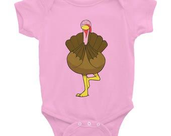 Infant Bodysuit | Baby Turkey | Funny Bodysuit | Thanksgiving Shirt | Turkey Shirt | First Thanksgiving | Thanksgiving Baby | November Baby