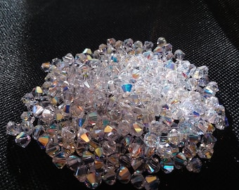 Package of 10 5mm Swarovski Crystals Bicone AB