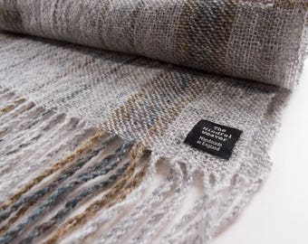 Hand woven scarf with 100% Shetland Wool