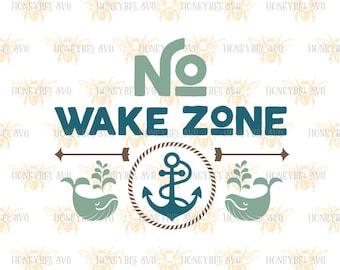 No Wake Zone svg Nursery Decor svg Baby Gift svg Sleeping Baby svg Nursery svg Baby svg Silhouette svg Cricut svg eps dxf jpg Nautical svg