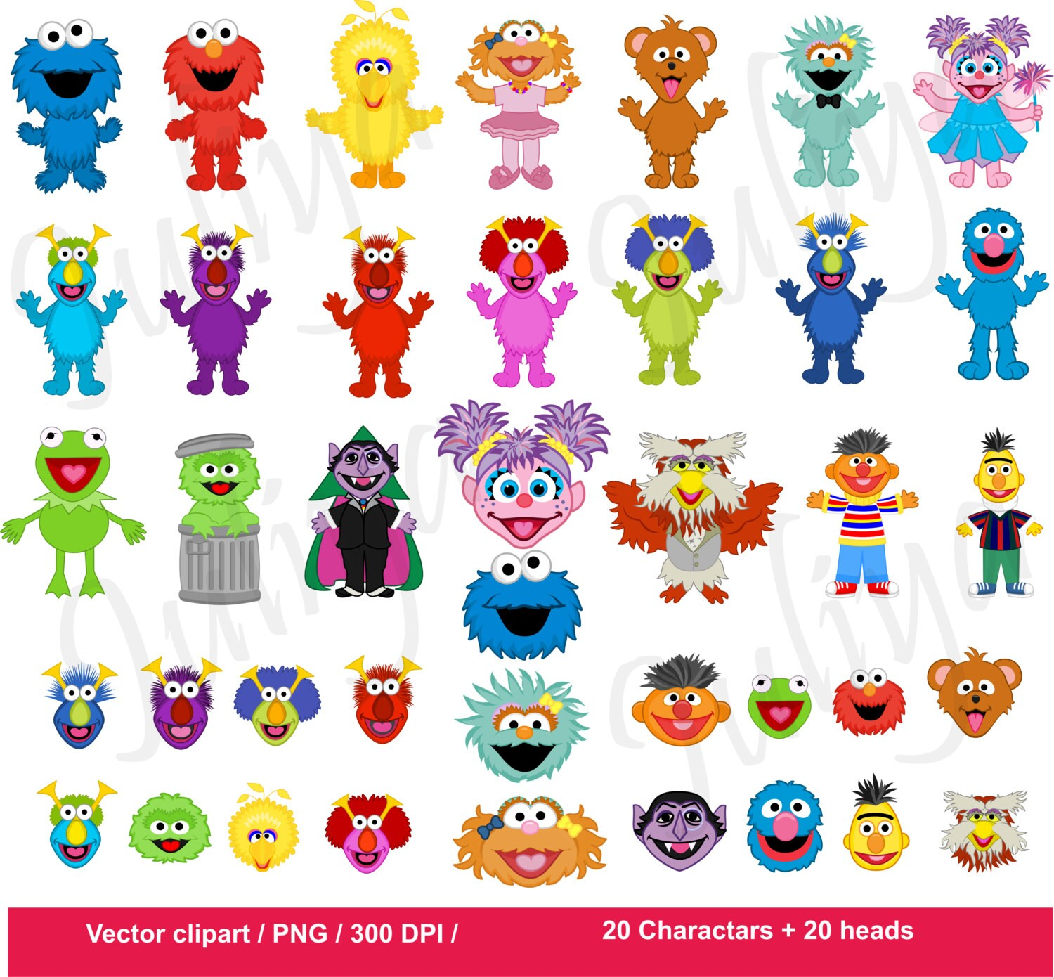 Monsters clipart / Monsters vector / Monsters Heads / Monster Clip ... for Street Clipart Png  155fiz