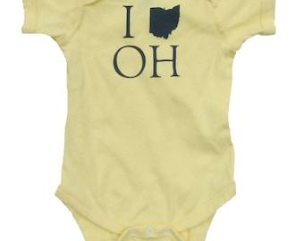 I (Ohio) OH - Banana Yellow Baby One-Piece