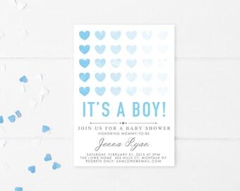 Baby Shower Invitation, Baby Shower Invites for Boys, Boy Baby Shower Invitation, Baby Shower, Boy, Baby Boy, Shower Invitations [203]