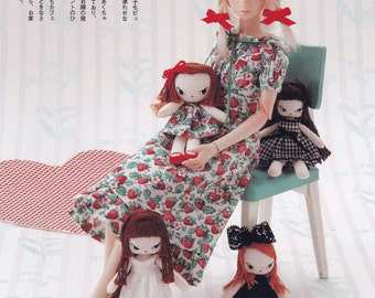 Miniature RagDoll for 20cm 22 cm 27cm dolls pdf TUTORIAL in Japanese and E PATTERN in English (blythe plush doll stuffed toy)