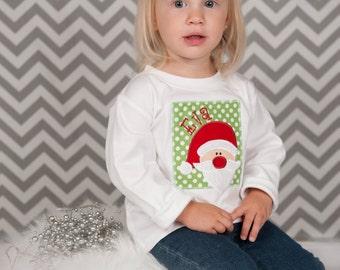 Personalized Santa Christmas Shirt - Boy or Girl Christmas Shirt