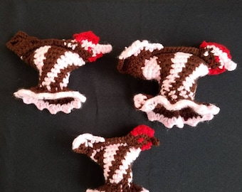 Crocheted chickens