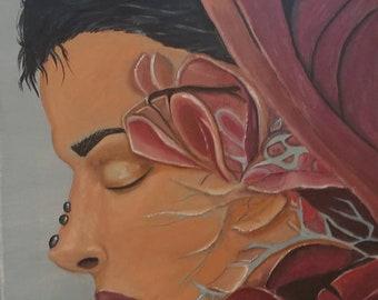 11x14 acrylic painting on canvas portrait fantasy