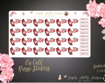 Nurse On-Call - Planner Stickers