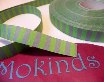 Woven, Ringelband, green-gray, Farbenmix