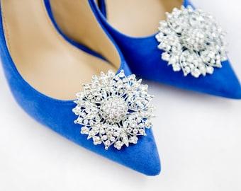 Shoe decoration etsy a pair of crystal shoe clipsrhinestone shoe clipswedding bridal shoe clips junglespirit Choice Image