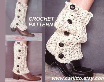 CROCHET Pattern-  legwarmers,  make them to fit any size leg.#109  Instant Download