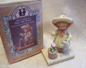 "Memories of Yeaterday ""Mary, Mary, Quite Contrary"" Figurine, Once Upon A Fairy Tale"