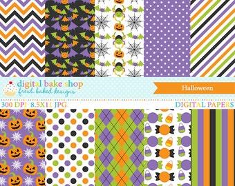 halloween papers digital printable - Halloween Digital Papers