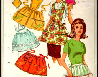 Simplicity 6808  Misses' Set Of Aprons And Pot Holder