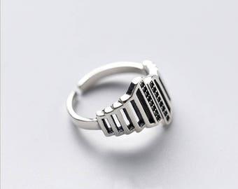 The unique black CZ ring