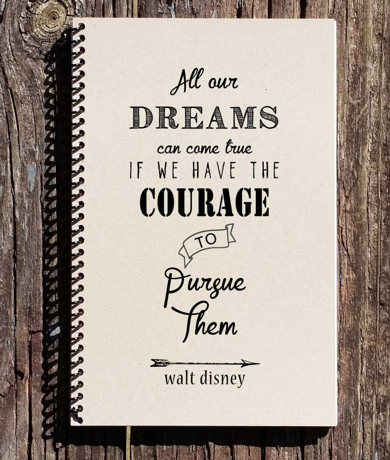 Disney Quote: Walt Disney Quote Disney Notebook All Our Dreams Can Come