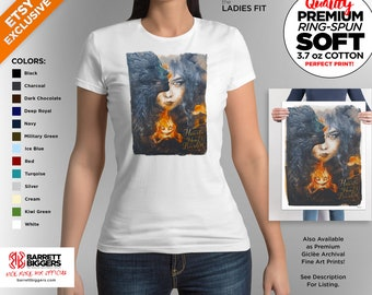 T Shirt of my bird howls moving castle inspired surreal painting art clothing design for Men and Women by Barrett Biggers