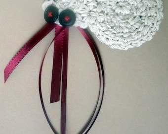 Cat Toy Crochet Hermit Crab with POTENT catnip (catmint) crinkle toy or lavender drawer satchet stuffed custom stuffing